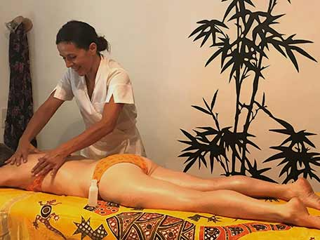 Le massage relaxant de Peggy