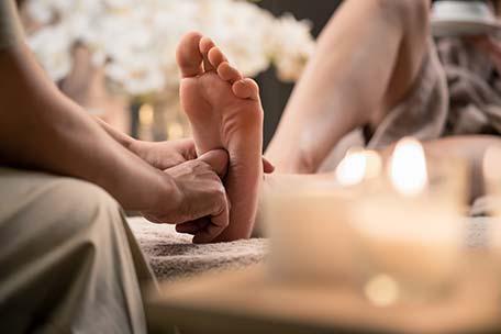 Massage en réflexologie plantaire